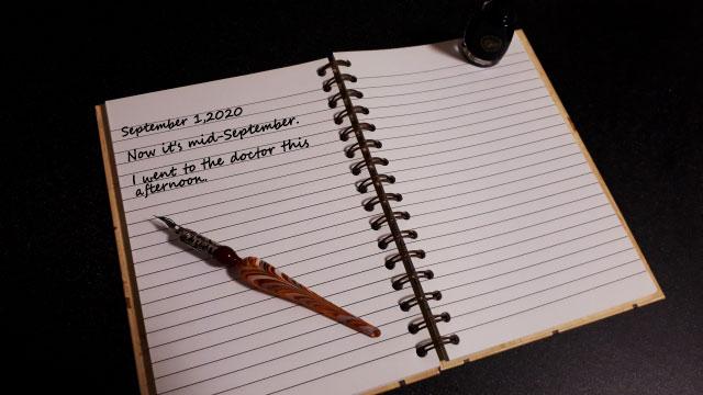 英語の日記帳