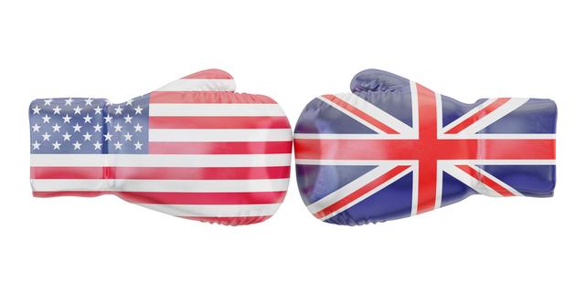 イギリスとアメリカの国旗