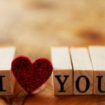「I ♡ YOU」と書かれた画像