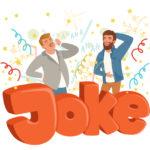 冗談で笑い合う外国人男性のイラスト