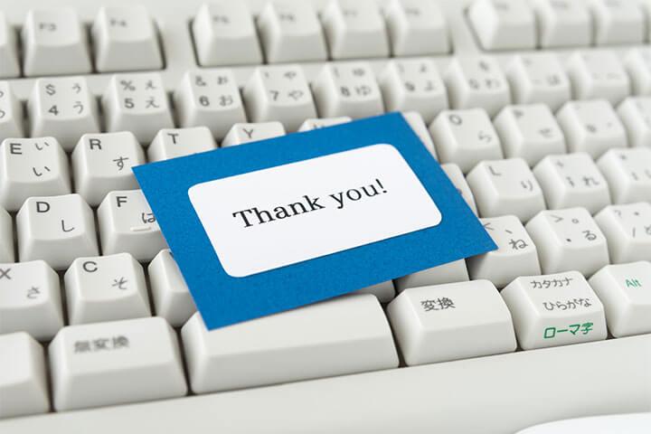 感謝 の 言葉 英語